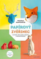 Papírový zvěřinec - 3D model lišky, jelena, surikaty a medvědí rodinky