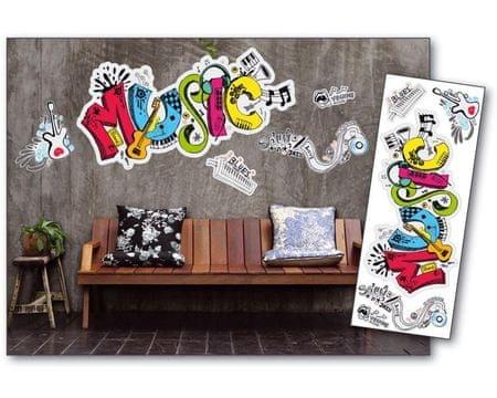 Dimex Dekoračné nálepky na stenu Music - 65 x 165 cm