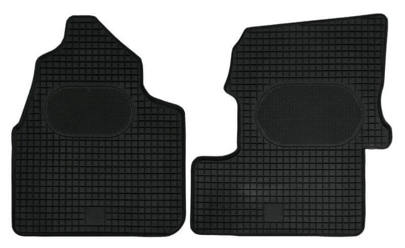 POLGUM Gumové koberce, přední, 2 ks, černé, pro vozy Mercedes-Benz Sprinter od r. 2006 a VW Crafter