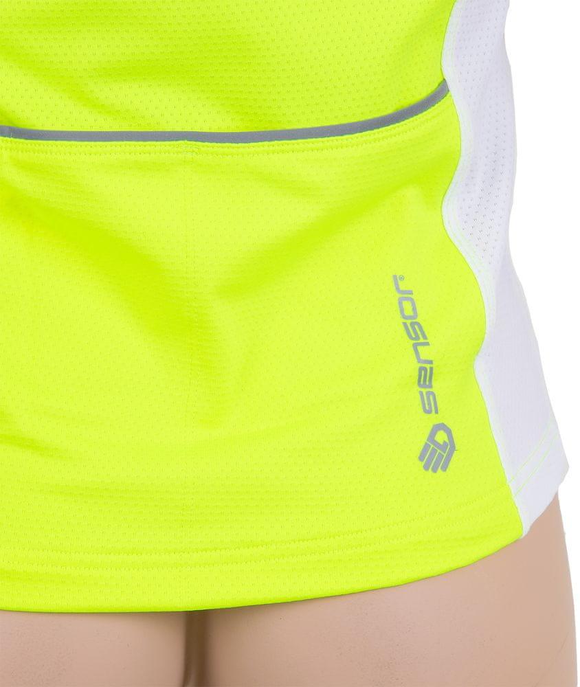 Sensor Entry dětský dres kr.rukáv reflex žlutá/bílá -130