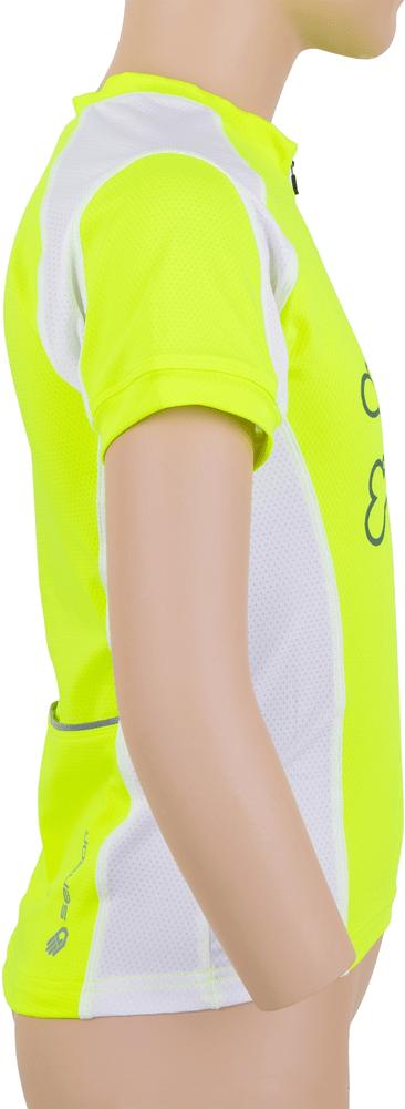 Sensor Entry dětský dres kr.rukáv reflex žlutá/bílá -150