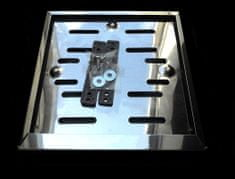 Okvir registrske tablice za motor Premium, inox, 180 x 180 mm