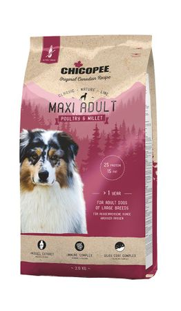 Chicopee Classic Nature Maxi Adult Poultry & Millet 15 kg