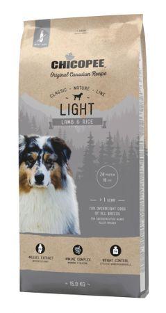 Chicopee Karma dla psów z nadwaga Classic Nature Light Lamb & Rice 15 kg