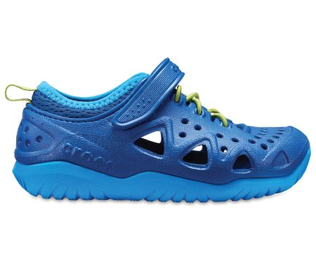 Crocs Swiftwater Play Shoe K Blue Jean 24,5 modrá