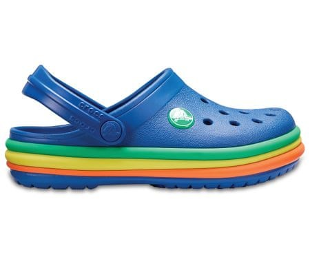 Crocs CB Rainbow Band Clog K Blue Jean 24.5 modrá