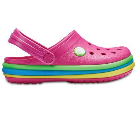 Crocs buty CB Rainbow Band Clog K Paradise Pink 32.5 różowe