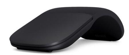 Microsoft brezžična laserska miška Arc Mouse, črna