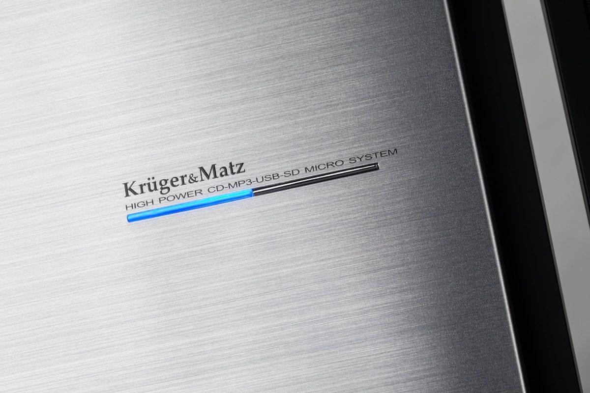 Mikrosystém s CD Kruger&Matz KM7089 elegantní design hliník uchycení na stěnu