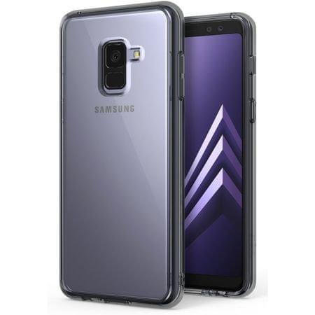 Ultra tanek silikonski ovitek za Samsung Galaxy A5 / A8 2018, prozorno črn