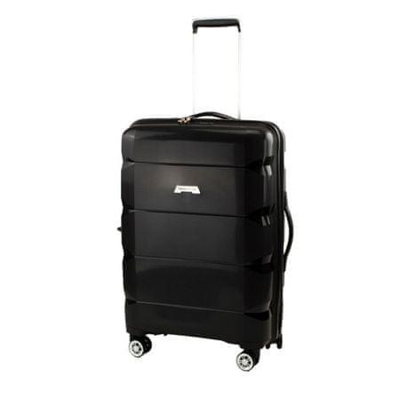 Travel and More potovalni kovček, srednji, 72 l, črn
