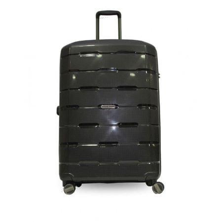 Travel and More velik potovalni kovček, 110 l, črn
