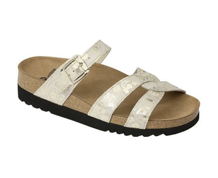 Scholl Zdravotná obuv CAMBERRA - platinum (Veľkosť vel. 40)