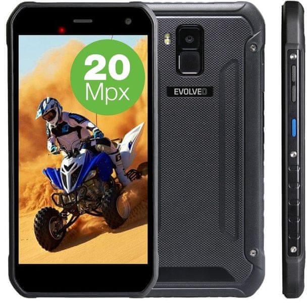 Evolveo StrongPhone G8, LTE, Dual SIM, černý