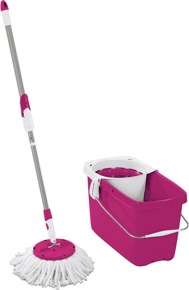 Leifheit Set Clean Twist Disc Mop růžová