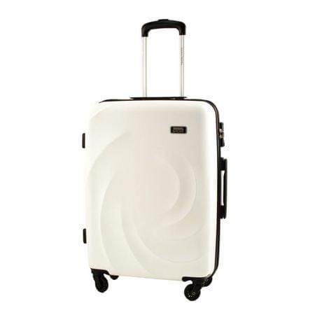 Travel and More potovalni kovček, srednji, 59 l, bel