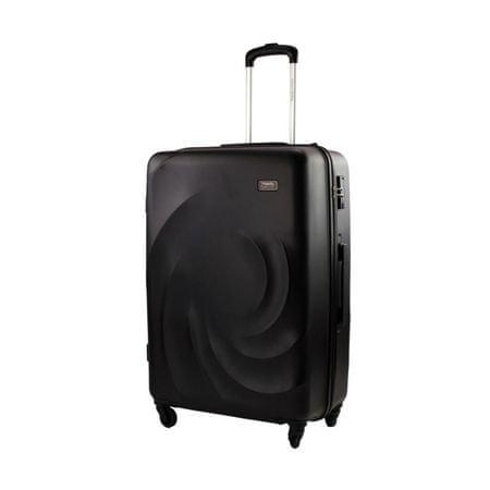 Travel and More potovalni kovček velik, 100 l, črn