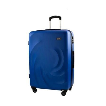 Travel and More potovalni kovček, velik, 100 l, moder