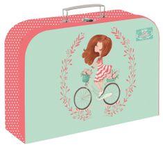 Karton P+P Lola mintázatú bőrönd lamino 34 cm