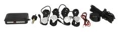 M-Tech Parkovací asistent, zadní, barva stříbrná, průměr senzorů 21,5 mm, akustický signál
