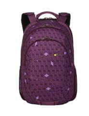 Case Logic nahrbtnik Berkeley BPCA-315 Purple Cubes, 40 cm, vijoličen