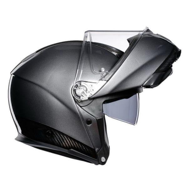 AGV vyklápěcí karbonová přilba SPORTMODULAR černý karbon/šedá vel.M (57-58cm)