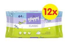Bella Happy Classic čistící ubrousky 64 ks x 12