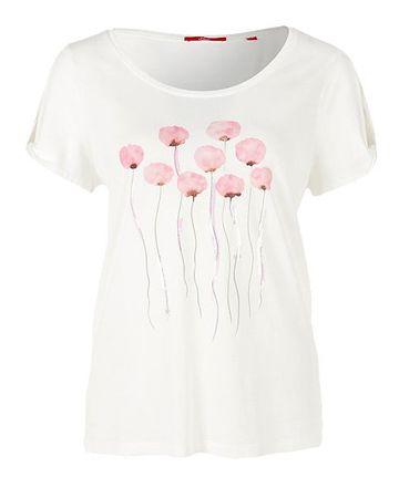 s.Oliver dámské tričko 34 smotanová