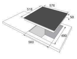 Amica sklokeramická deska DS 6422 B