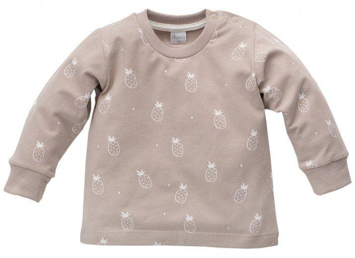 PINOKIO Chlapecké tričko s ananasy Leon - béžové