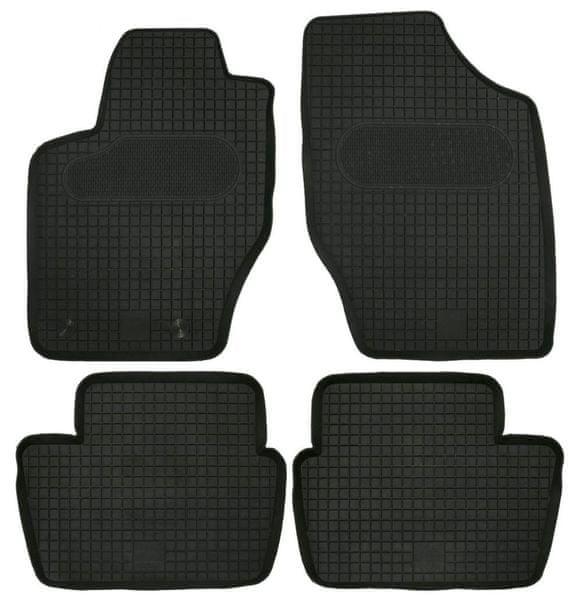 POLGUM Gumové koberce, sada 4 ks, černé, pro vozy Citroen C4, CITROEN DS4, Peugeot 307, Peugeot 308 I do r. 2013
