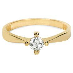 Brilio Zlatý zásnubní prsten 226 001 01016 - 1,95 g zlato žluté 585/1000