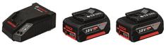 BOSCH Professional polnilnik AL 1860 CV + 2x Li-Ion akumulatorska baterija GBA 18 V 4 Ah (1600A002F8)