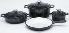 CS Solingen Sada litinového nádobí Xanten, 7 ks černá