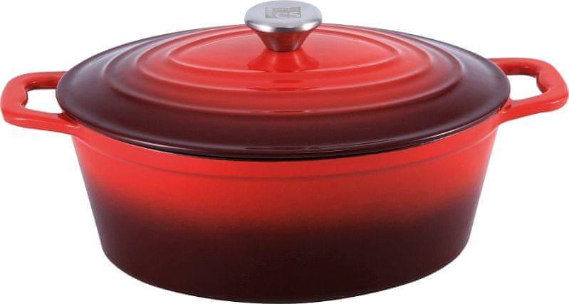 CS Solingen Litinový pekáč s poklicí Xanten, 36 cm červený
