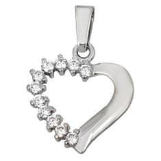 Brilio Přívěsek srdce s krystaly 249 001 00351 07 - 1,40 g zlato bílé 585/1000