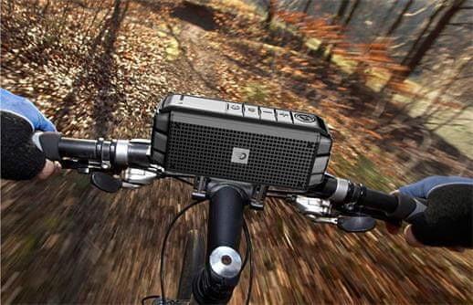 Bezdrátový Bluetooth reproduktor DreamWave Explorer držák na kolo handsfree