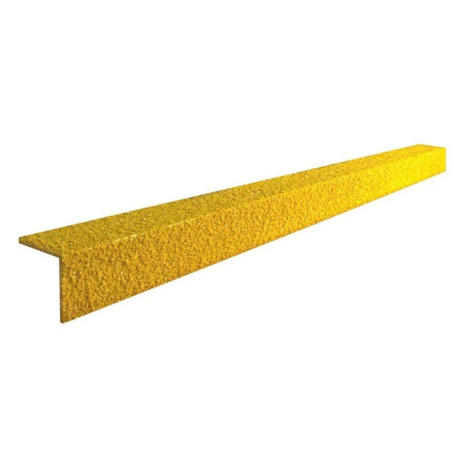 Žlutá karborundová schodová hrana - 100 x 5,5 x 5,5 x 0,5 cm