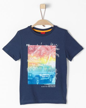 s.Oliver T-shirt chłopięcy 92 - 98 niebieski