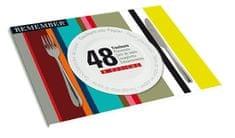 REMEMBER® Papírové prostírání Stripes, 48 ks
