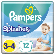 Pampers Splashers Plenkové kalhotky do vody S3 12ks (dárek)