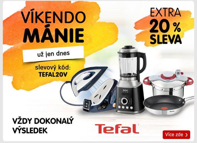 20% sleva na všechny produkty znacky Tefal!