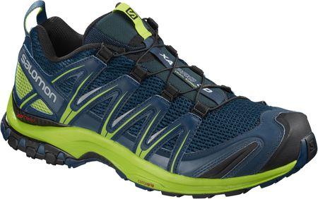 Salomon moški športni čevlji Xa Pro 3D Poseidon/Lime Green/Black, 43,3 (9 UK), črna/modra/rumena