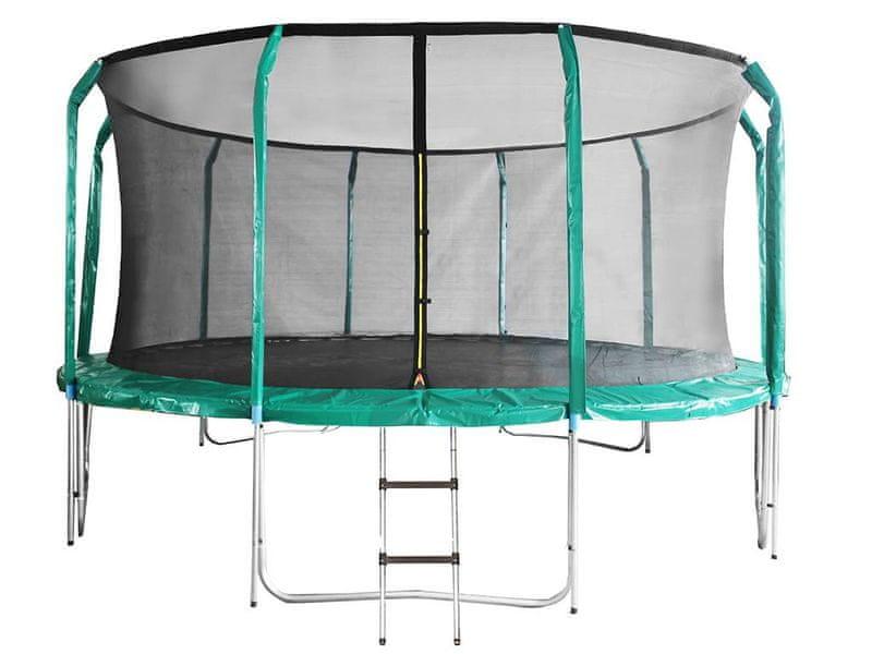 DUVLAN Trampolína SkyJump 457 cm + vnitřní síť + schůdky
