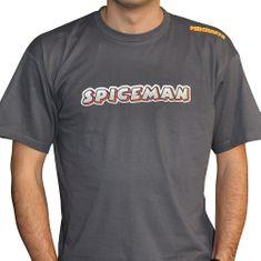Mikbaits Pánské tričko Spiceman - šedé