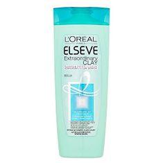 L'Oréal Šampon pro rychle se mastící vlasy s lupy Elseve (Extraordinary Clay)