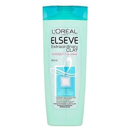 L'Oréal Šampon pro rychle se mastící vlasy s lupy Elseve (Extraordinary Clay) (Objem 400 ml)