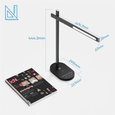TaoTronics LED namizna svetilka z brezžično polnilno postajo DL31, črna
