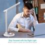 7 - TaoTronics LED namizna svetilka z brezžično polnilno postajo DL36, bela