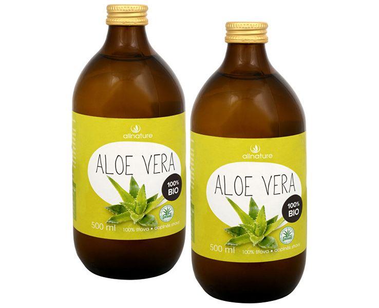Allnature Aloe Vera - 100% Bio šťáva 500 ml (1+1)